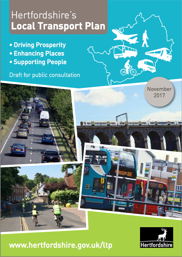 Hertfordshire's draft Local Transport Plan 4 for 2018-2031